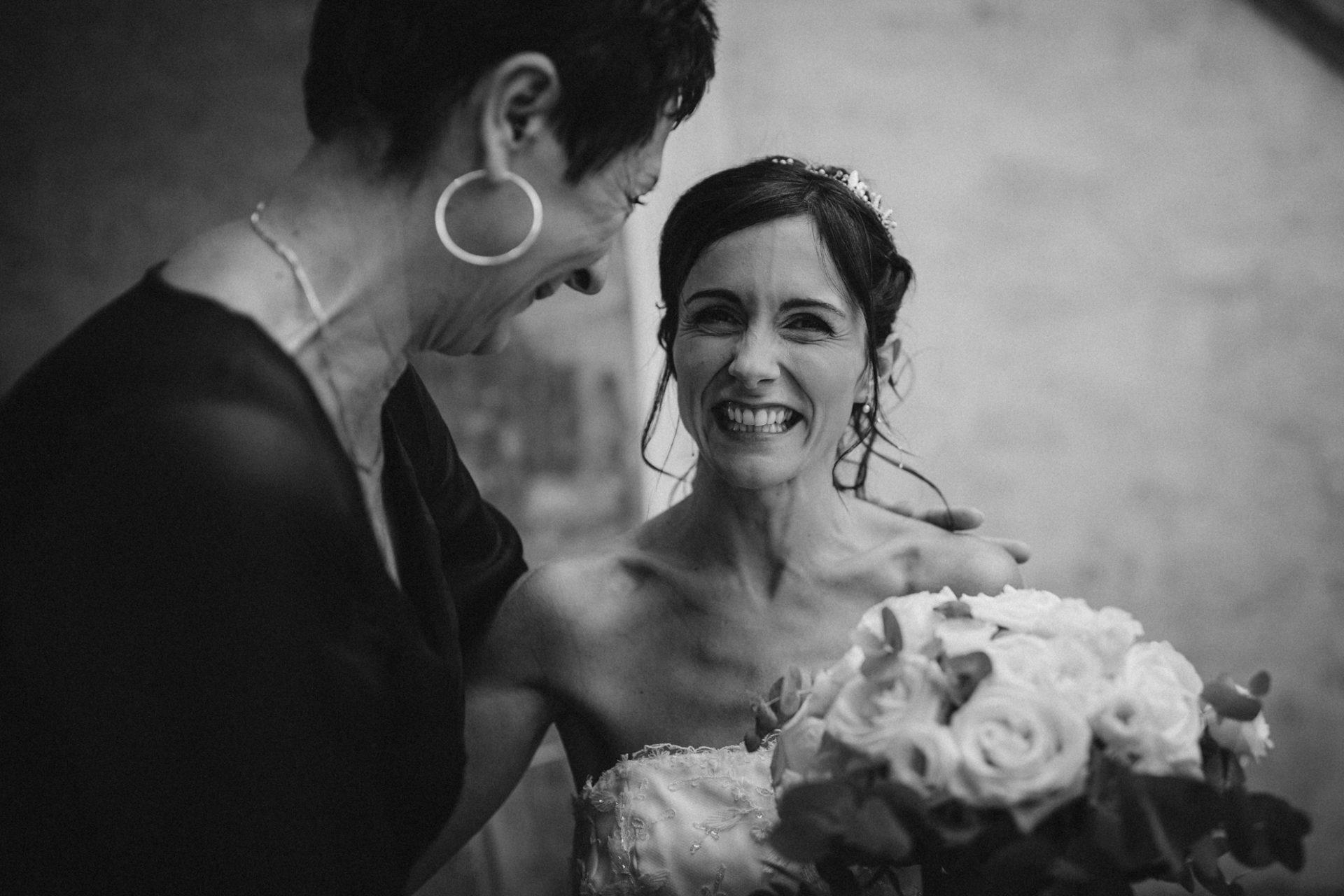 a happy bride in italy