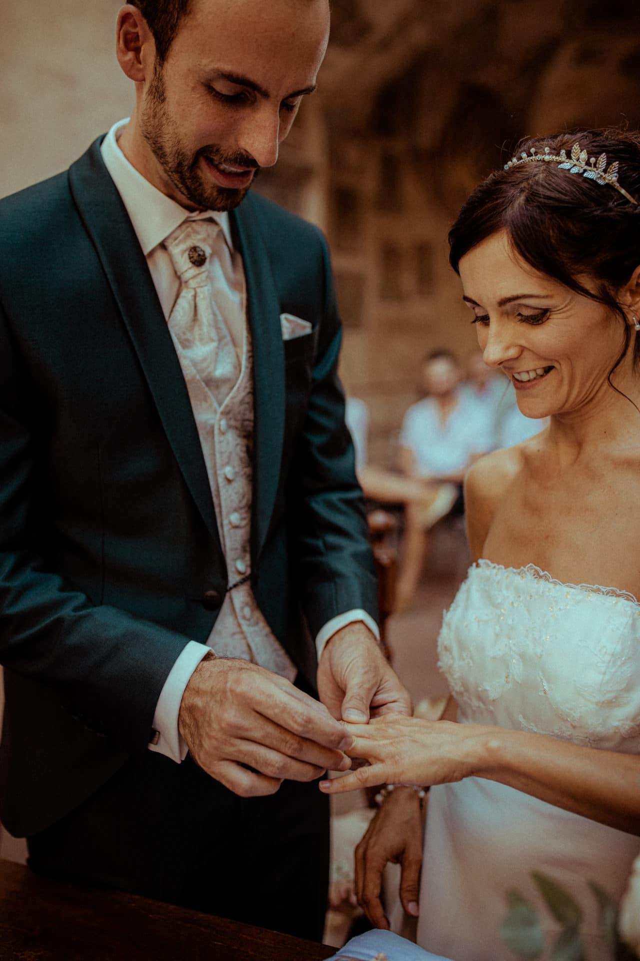 wedding rings bride and groom