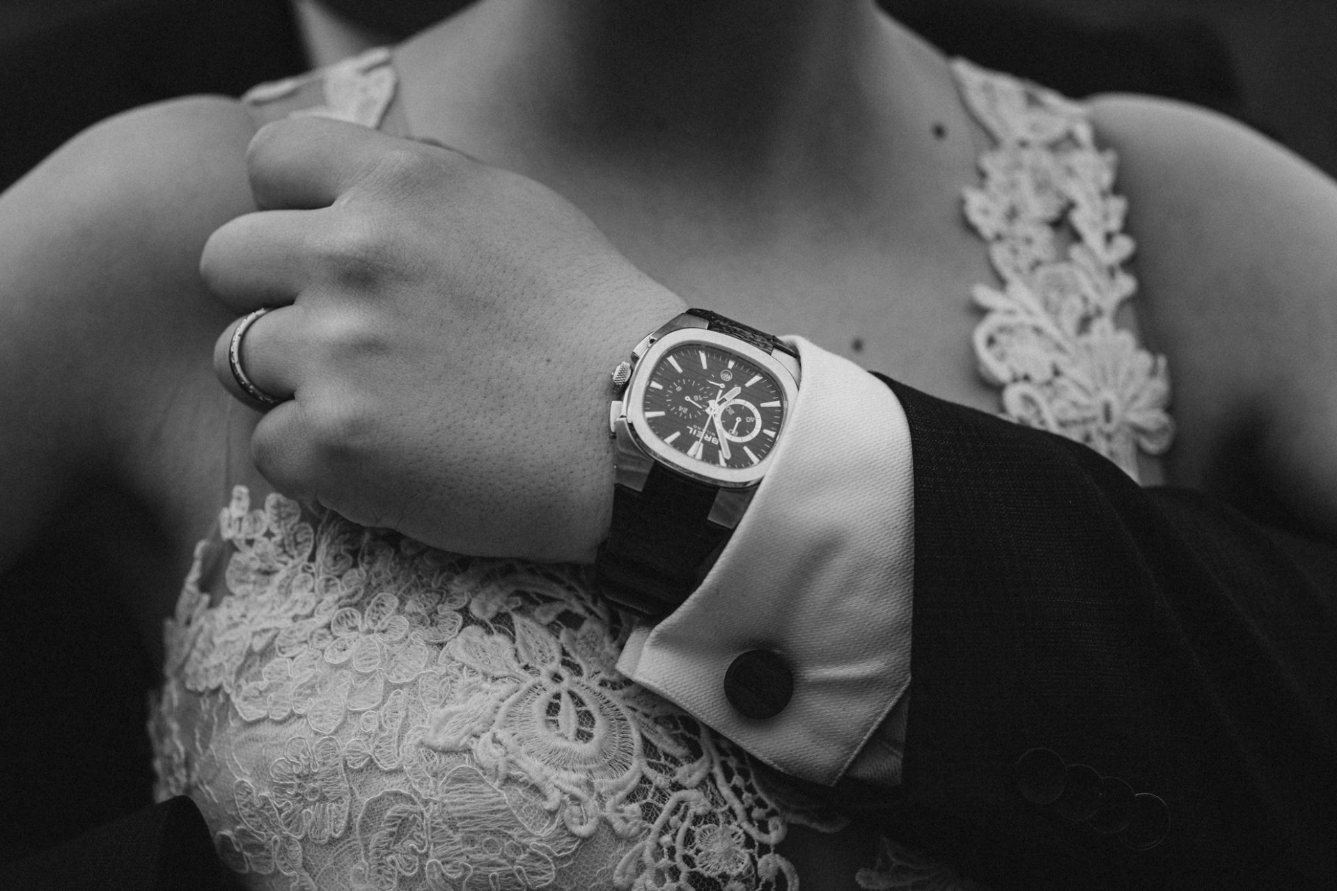 wedding watch during the couple photoshoot