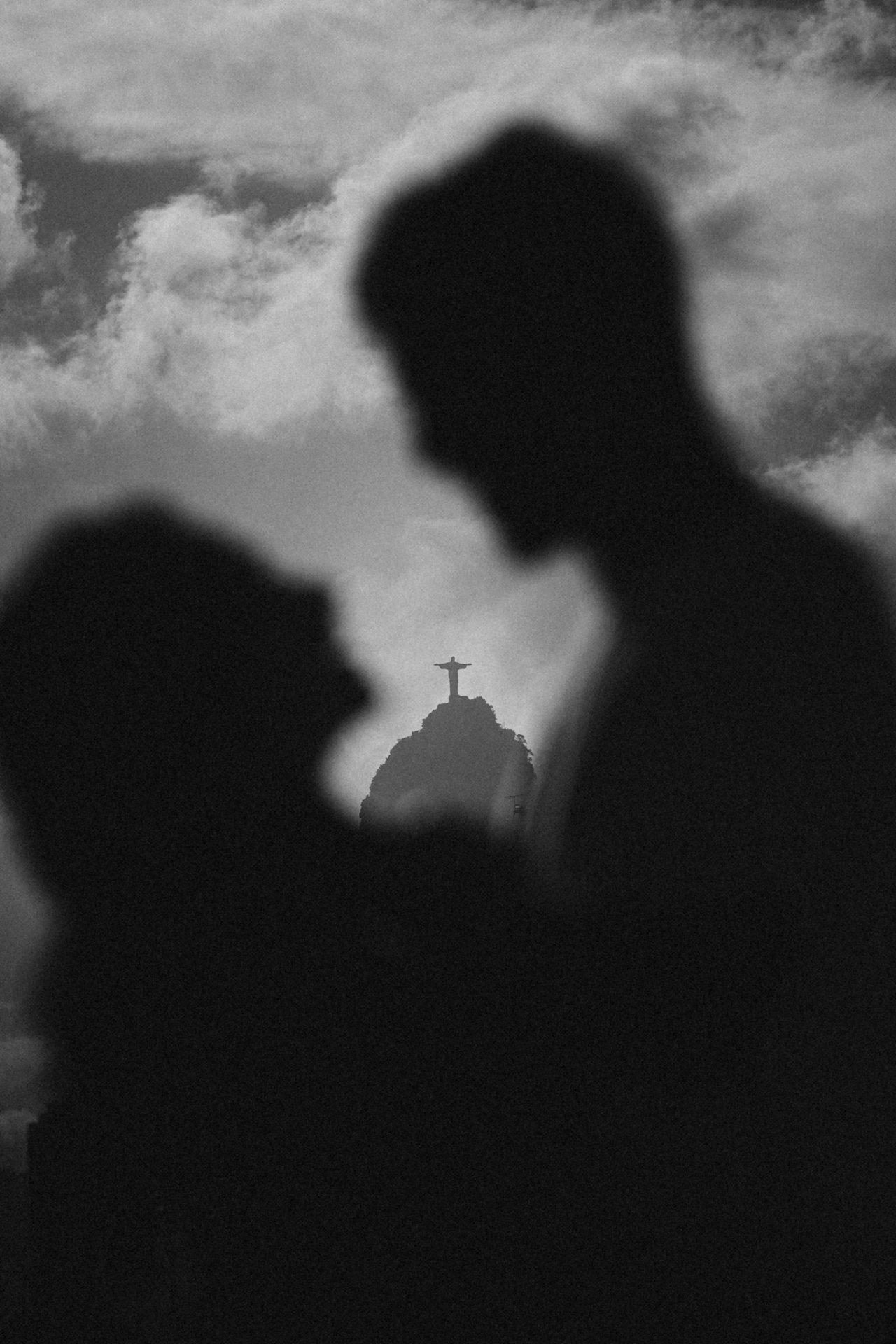 des amoureux et le christ redempteur de rio de janeiro
