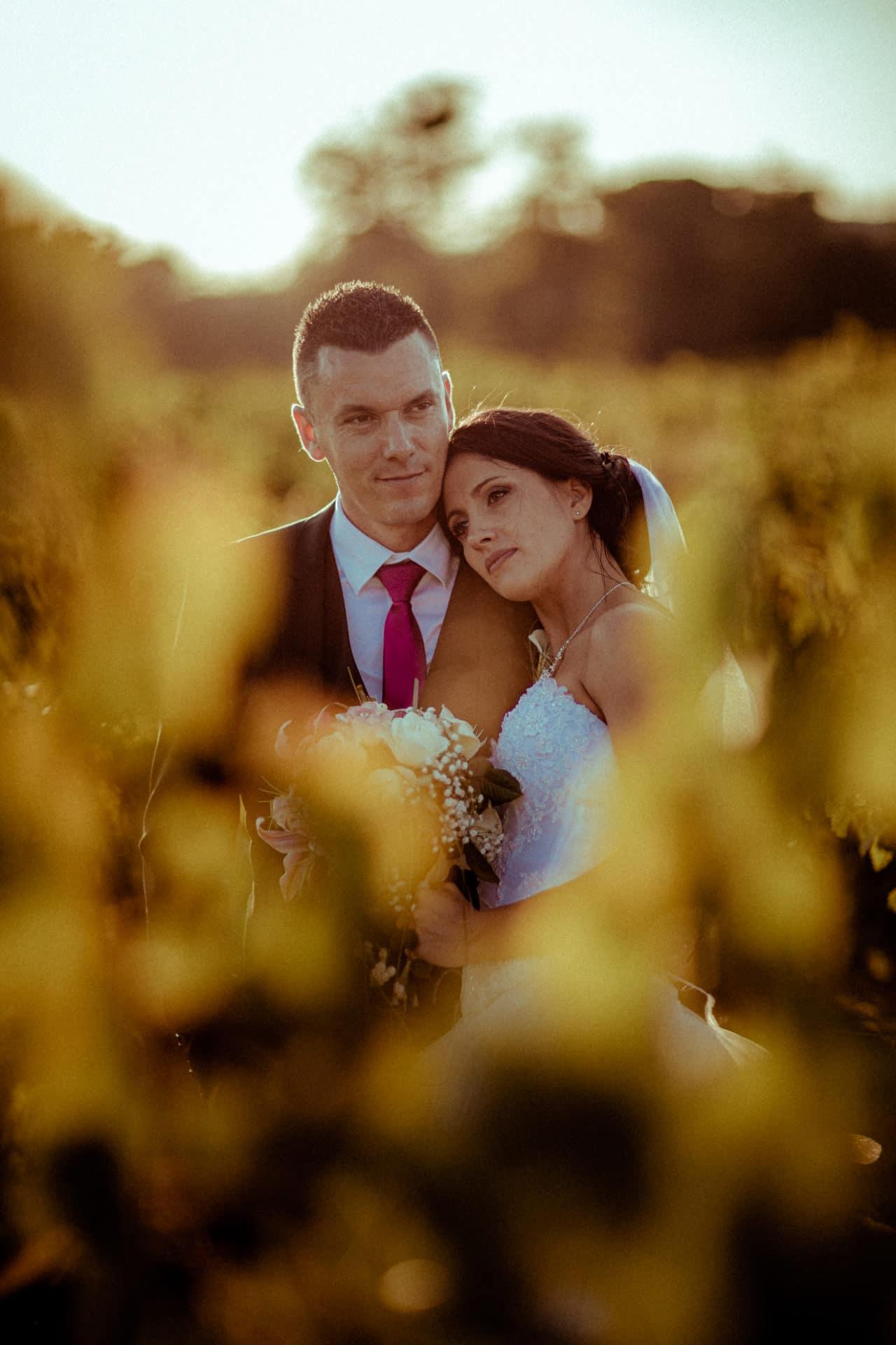photographies de mariage dans les vignes
