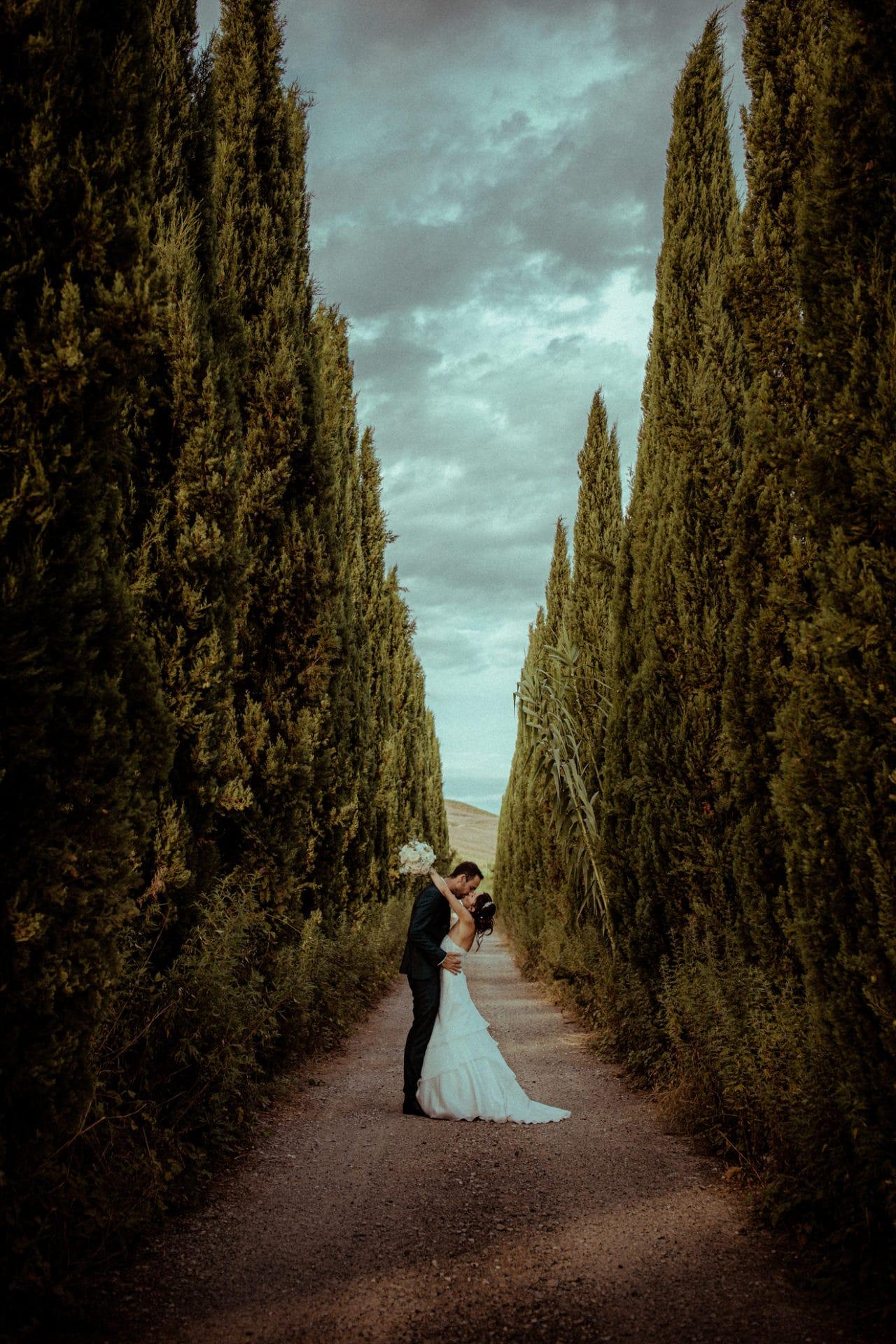 photos de mariage allees de cypres toscane
