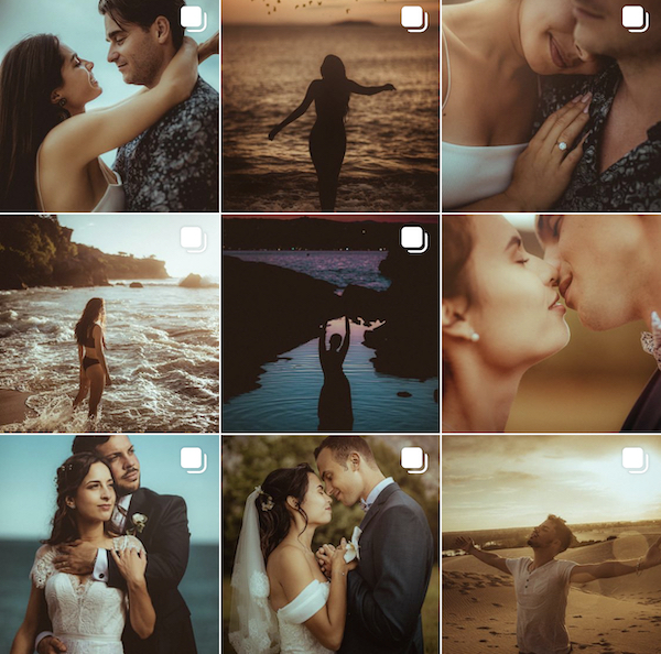 instagram feed of terence baelen destination wedding photographer in Paris
