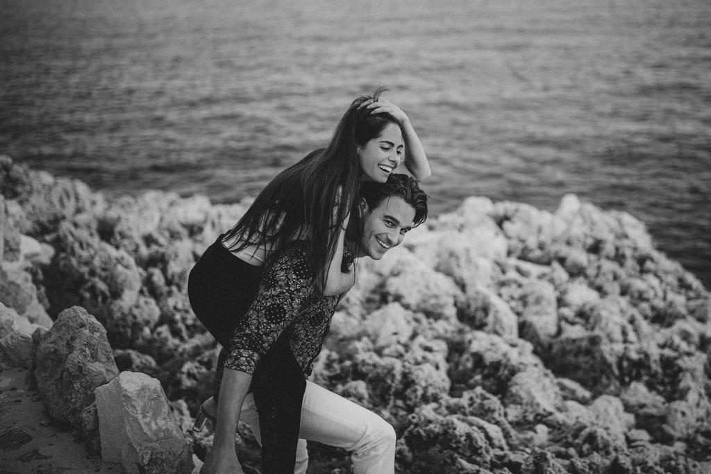 photos couple sur la cote azur