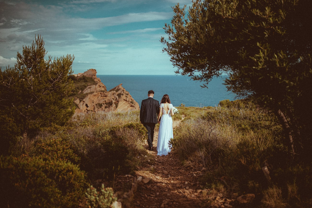 photographe mariage a Cannes | maries bord de mer esterel