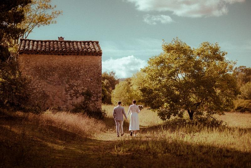 photographe mariage dans la campagne pres de cannes