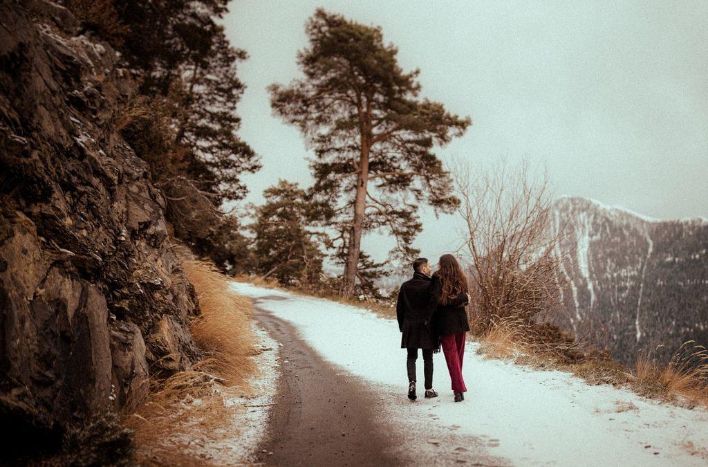 Mélissa & Vicenzo : une séance photo de couple à la neige